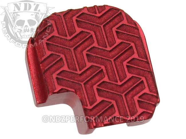 NDZ Red Sig Sauer P365 Rear Slide Cover Plate  TriWeave Inverse
