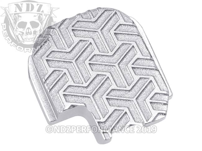 NDZ Silver Sig Sauer P365 Rear Slide Cover Plate  TriWeave Inverse