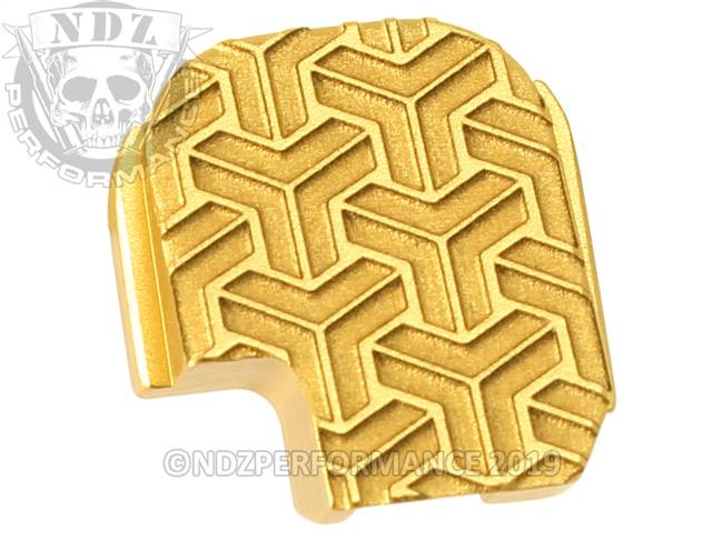 NDZ True Gold Sig Sauer P365 Rear Slide Cover Plate  TriWeave Inverse