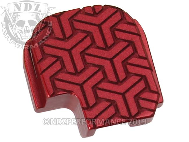 NDZ Red Sig Sauer P365 Rear Slide Cover Plate  TriWeave