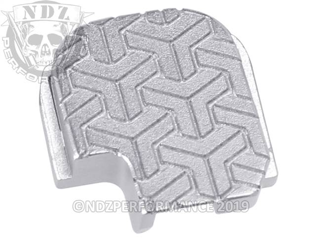 NDZ Silver Sig Sauer P365 Rear Slide Cover Plate  TriWeave
