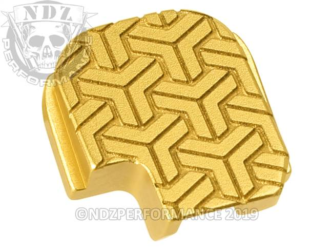 NDZ True Gold Sig Sauer P365 Rear Slide Cover Plate  TriWeave