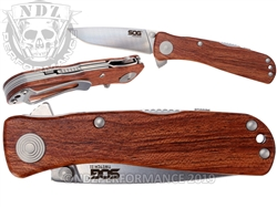 SOG TWI17-BX Twitch II Wood Handle Knife (*LZ)