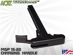 NDZ Black Charging Handle With Latch Right Handed for Smith & Wesson M&P 15/22