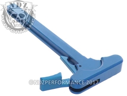 NDZ Blue Charging Handle With Latch Right Handed for Smith & Wesson M&P 15/22