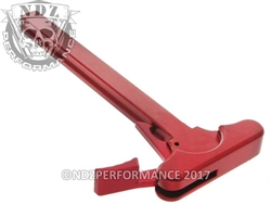 NDZ Red Charging Handle With Latch Right Handed for Smith & Wesson M&P 15/22