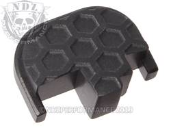 Black S&W M&P Rear Slide Plate HC Inv