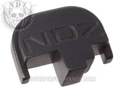 Black S&W M&P Rear Slide Plate NDZ Inv