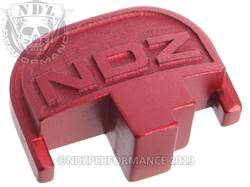 Red S&W M&P Rear Slide Plate NDZ