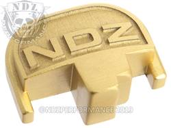 Gold S&W M&P Rear Slide Plate NDZ