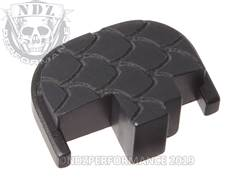 Black S&W M&P Rear Slide Plate SC