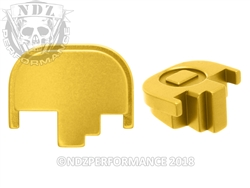 NDZ Gold Rear Plate for Smith & Wesson M&P Full-Size Compact M&P 2.0 (*LZ)