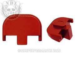 NDZ Red Rear Plate for Smith & Wesson SD9 SD40 (*LZ)