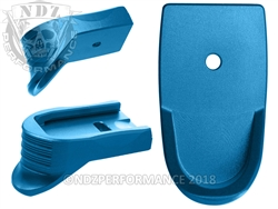 NDZ Blue Magazine Plate Finger Extension Textured for Smith & Wesson Shield 9MM .40 (*LZ)