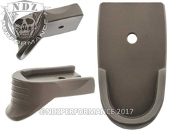 NDZ Cerakote FDE Magazine Plate Finger Extension Textured for Smith & Wesson Shield 9MM .40