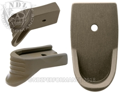 NDZ HC FDE Magazine Plate Finger Extension Textured for Smith & Wesson Shield 9MM (*LZ)
