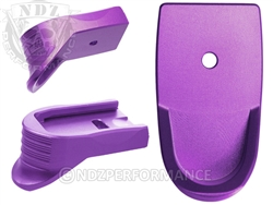 NDZ Purple Magazine Base Plate Finger Extension Textured for Smith & Wesson Shield 9MM .40 (*LZ)