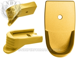 NDZ Gold Magazine Plate Finger Extension Textured for Smith & Wesson Shield 9MM .40 (*LZ)