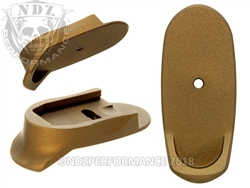 Burnt Bronze Magazine Base Plate Finger Extension Long - 9MM | NDZ Performance