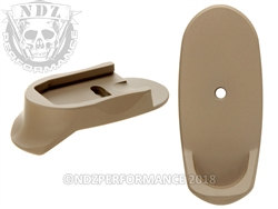 NDZ Cerakote FDE Magazine Plate Finger Extension Long for Smith & Wesson Shield 9MM .40