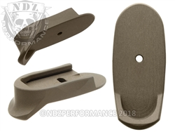 S & W Shield 9mm .40 Custom Long Extended HC FDE Mag Plate