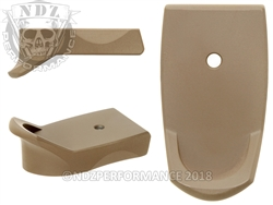 NDZ Cerakote FDE Magazine Plate Finger Extension for Smith & Wesson Shield 9MM .40