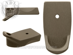 Smith & Wesson Shield 9mm .40 Engravable Extended HC FDE Mag Plate
