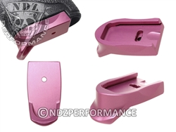 NDZ Pink Magazine Plate Finger Extension for Smith & Wesson Shield 9MM .40 (*LZ)