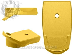NDZ Gold Magazine Plate Finger Extension for Smith & Wesson Shield 9MM .40 (*LZ)