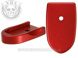 NDZ Mag Plate SW Shield 9MM .40 Red