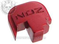 Red S&W Shield Rear Slide Plate NDZ Inv