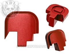 NDZ Red Rear Plate for Smith & Wesson Shield 9MM .40 (*LZ)