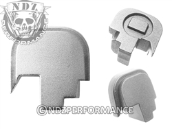 NDZ Silver Rear Plate for Smith & Wesson Shield 9MM .40 (*LZ)