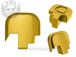 NDZ Gold Rear Plate for Smith & Wesson Shield 9MM .40 (*LZ)
