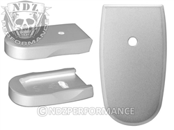 NDZ Silver Magazine Plate for Smith & Wesson Shield .45 (*LZ)