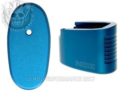 NDZ Blue Plus Two Magazine Extension for Smith & Wesson Shield .45 6RD (*LZ)