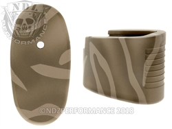 Smith & Wesson Shield .45 6RD Custom Plus Two Mag Plate Cerakote Tiger Stripe Brown
