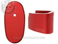 NDZ Red Plus Two Magazine Extension for Smith & Wesson Shield .45 (*LZ)