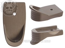 NDZ HCFDE Magazine Plate Finger Extension Textured for Smith & Wesson Shield .45 (*LZ)