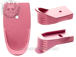 Pink Shield Magazine Base Plate Finger Extension - .45 Cal | NDZ Performance