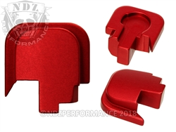 NDZ Red Rear Plate for Smith & Wesson Shield .45 (*LZ)