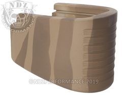 S&W MP Shield Mag Ext Brown Tiger Stripe