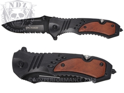 "Tac-Force Tactical Serrated Folding Rescue Knife TF-606W 3.25"" Blade"