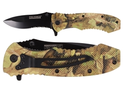"Tac-Force TF-800CA 3.25"" Spring Assisted Pocket Knife Camo"