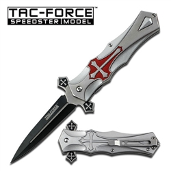 Tac-Force TF-817Rd Cross Spring Assisted EDC Knife Red | Carry Knives