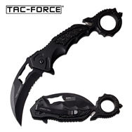 Tac-Force Hawkbill Spring Assisted Folding Pocket Knife Black