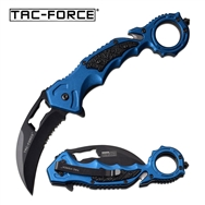 Tac-Force Hawkbill Spring Assisted Folding Pocket Knife Blue