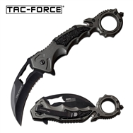 Tac-Force Hawkbill Spring Assisted Folding Pocket Knife Grey