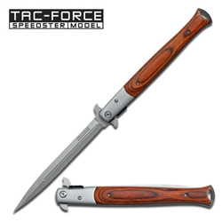 Tac-Force TF-540Rd Milano Knife Wood | Carry Knives