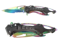 "Tac-Force 3.25"" Spring Assisted Folding Pocket Knife TF705RB"
